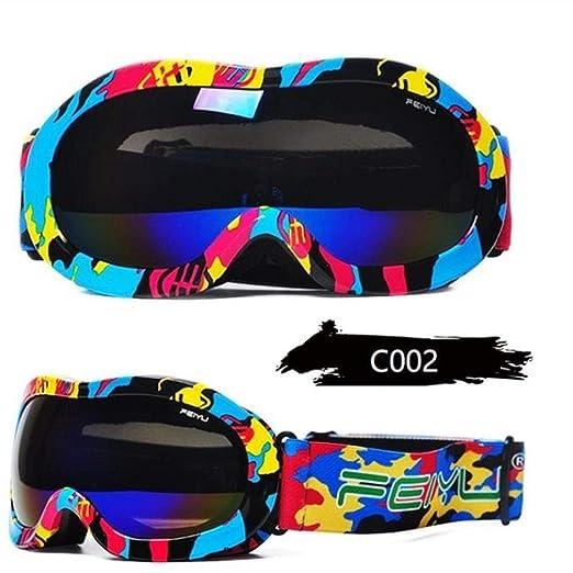 YSYYSH Gafas Gafas de Nieve de Invierno de esquí for niños máscara ...