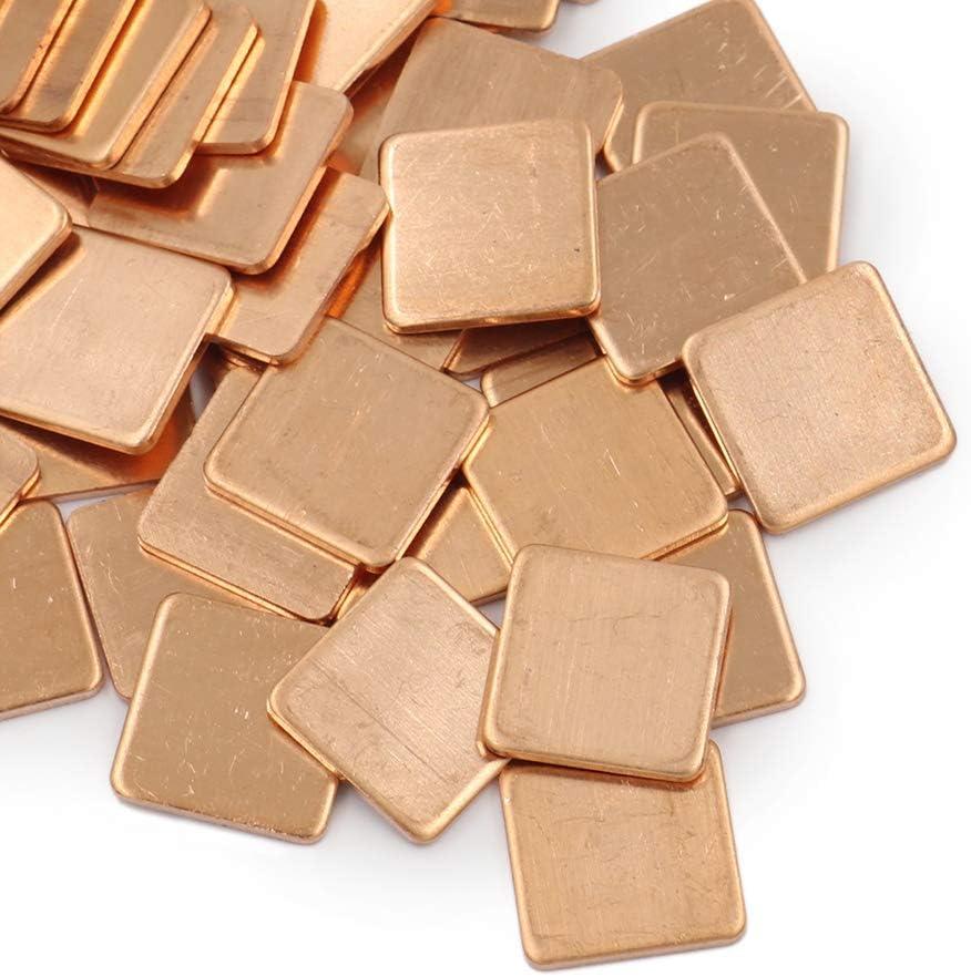 Copper Shim Heatsink Pad for Laptop Notebook GPU VGA Graphics Card Chipset 100pcs 15mm x 15mm x 0.1mm~2.0mm 15x15x0.3mm
