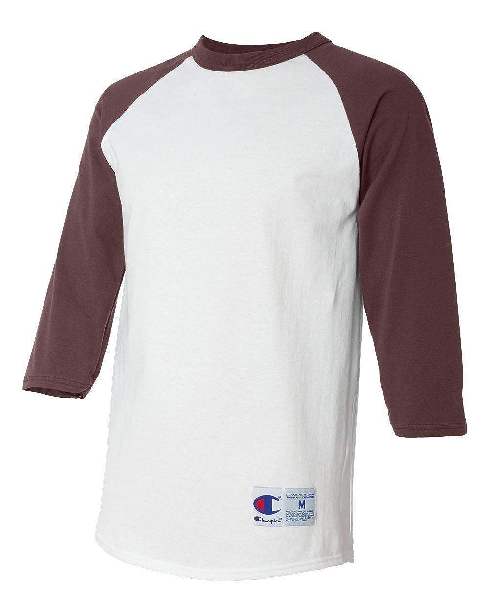 Champion T1397 6.1 Oz. Tagless Raglan Baseball T-shirt  4d5c0a5a3