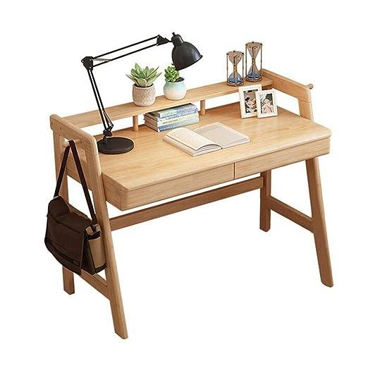 NAN Liang - Mesa de madera maciza para el hogar, dormitorio ...