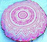 Mandala Indian Large Floor Pillow Comfortable Home Car Bed Sofa Large Mandala Floor Pillows Round Bohemian Meditation Cushion Cover Ottoman Pouf Cover