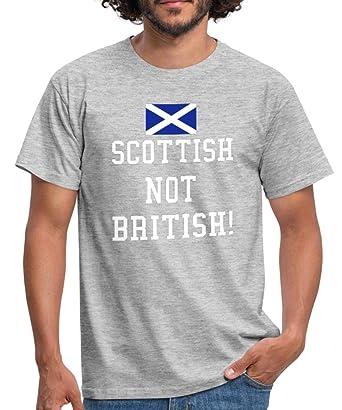 f1d3494c Spreadshirt Scottish Not British Slogan Men's T-Shirt: Amazon.co.uk ...