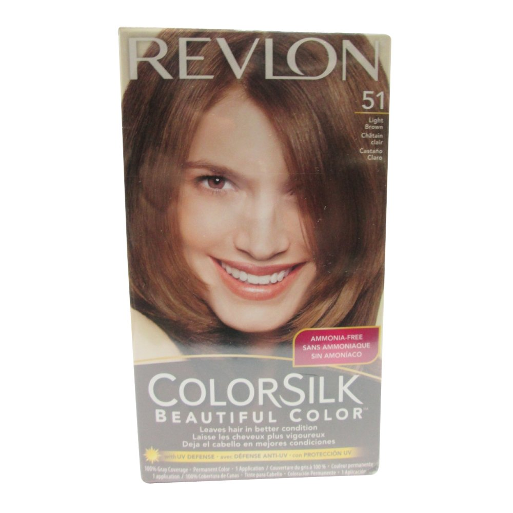 Amazon.com: Revlon ColorSilk Hair Color 40 Medium Ash Brown 1 Each ...