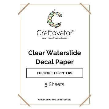 , 5 unidades A4 adhesivo de vinilo transparente de inyección de tinta de agua conjunto de papel de lija: Amazon.es: Hogar