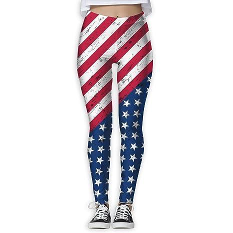f515c38d49 American Flag The Stars And Stripes Women's Full-Length Sports Running Yoga  Workout Leggings Pants