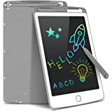 Tecboss LCD Writing Tablet Colorful Screen, Erasable Electronic Digital Drawing Pad Doodle Board, Kids Adults Home School Office (Gray, 8.5 inch)