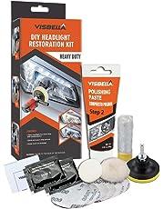 Visbella Kit de Restauración de Lente de Faros del Coche Kit de Herramienta de Protección de Pulido de Restaurador Profesional