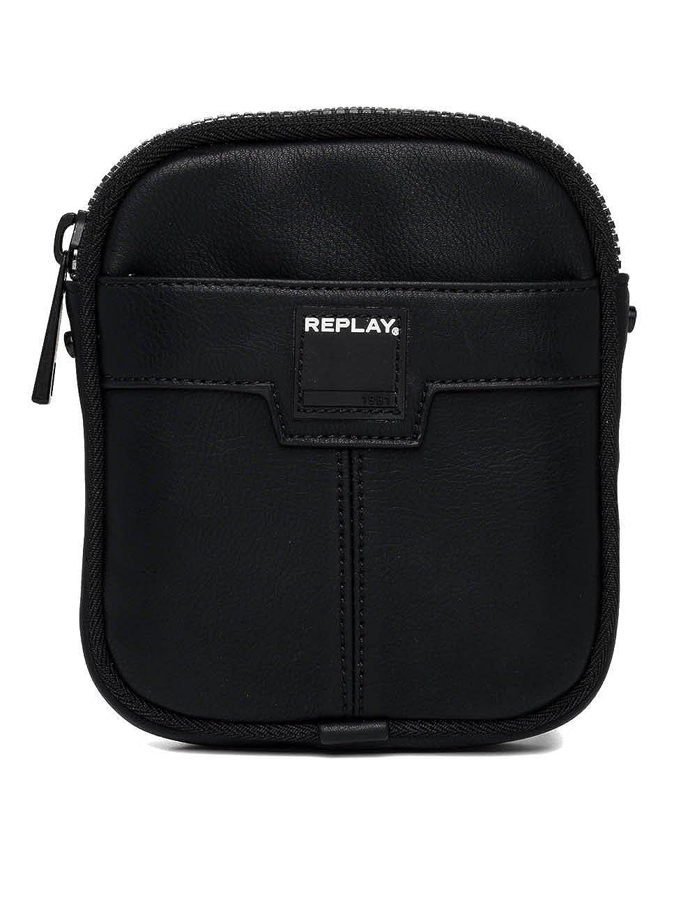 REPLAY Hand Bag Handtasche Umhängetasche Schultertasche Tasche Schwarz Neu