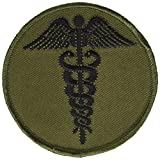 EagleEmblems PM3959 Patch-Medic,Caduceus (Subdued) (3'')