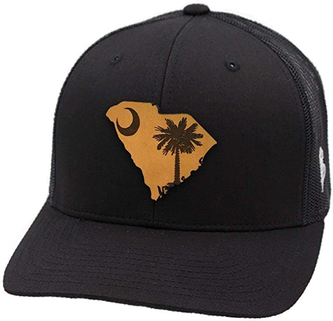 Branded Bills South Carolina Patriot Leather Patch Hat Flex Fit