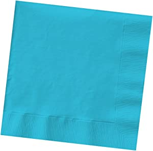 Creative Converting Beverage, 3 PLY Napkins, 50 Count, Bermuda Blue