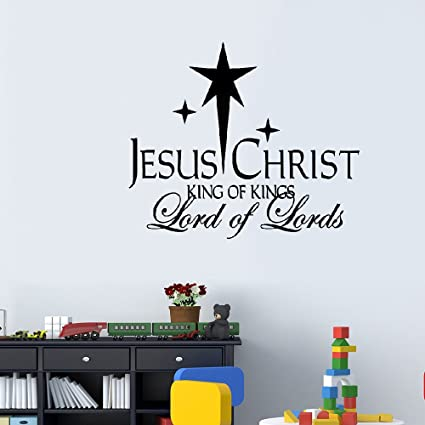 Amazon Dfwa Wall Sticker Jesus Christ King Of Kings Vinyl Wall Inspiration Christian Statements Decorative Designs