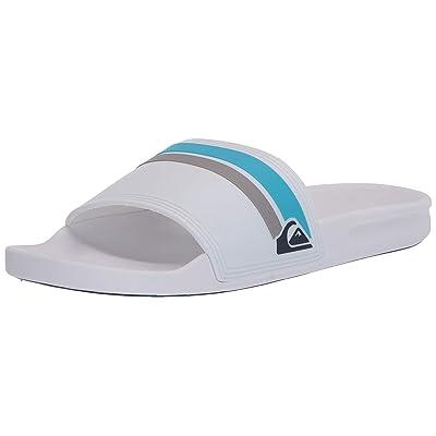 Quiksilver Men's Rivi Slide Sandal, White/Grey/Grey, 11 Medium US: Shoes
