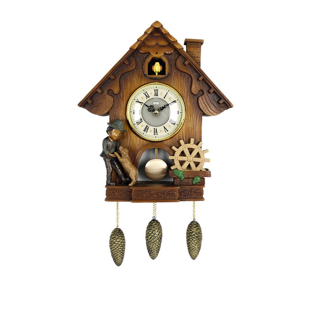 SMC 24.4 Inch Country Style Vintage Cuckoo Clock Home Decor Design Wall Clocks(The clock can be both hung on the wall and placed on the table.)