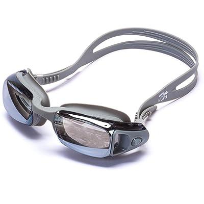 ZHAGOO Lunettes De Natation Adulte Miroir - Protection UV 100% Étanche Et Anti-Buée, Optique Triathlon Sans Fuite, Lunettes De Protection Arena