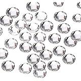 144pcs/lot SS40(8mm) Clear Crystal Flat Back Brilliant Round Rhinestones Glass Stones Glitter Gems (SS40 Clear)