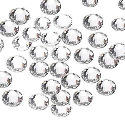 d700a2979b 144pcs/lot SS40(8mm) Clear Crystal Flat Back Brilliant Round Rhinestones  Glass Stones Glitter Gems (SS40, Clear)