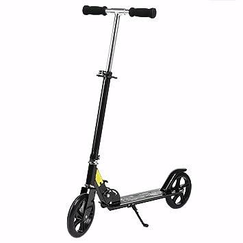 Profun Patinete Plegable Scooter para Adultos con Manillar Altura Ajustable 96-106CM Ruedas Grande 20CM con Freno de Mano Delantero y Trasero Soporta ...