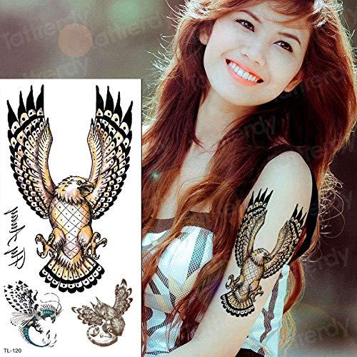 tzxdbh Falso Tatuaje águila Impermeable Temporal Tatoo alas ...