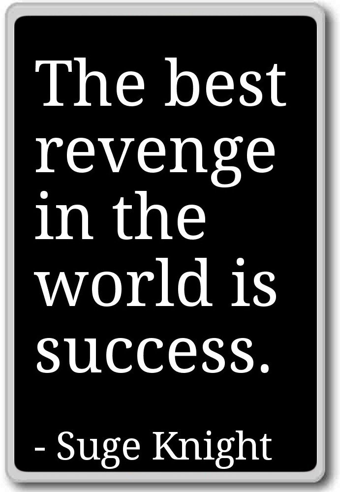 Amazon The Best Revenge In The World Is Success Suge
