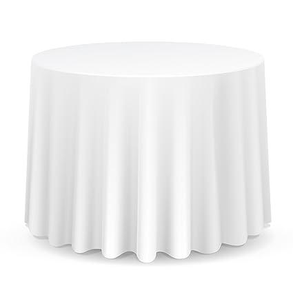 Lanns Linens 10 Premium 108u0026quot; Round Tablecloths For  Wedding/Banquet/Restaurant   Polyester