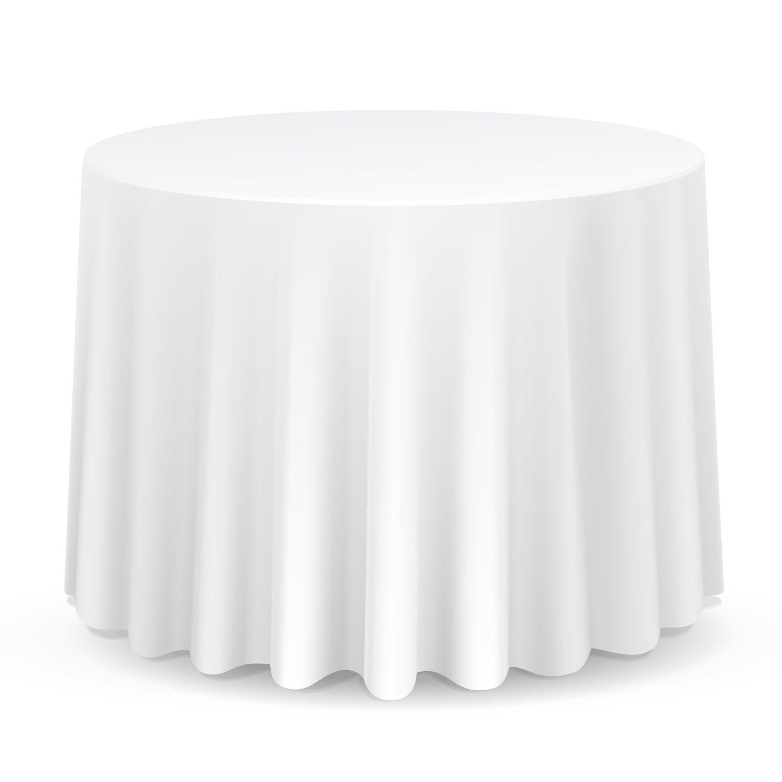 Lann's Linens - 10 Premium 120'' Round Tablecloths for Wedding / Banquet / Restaurant - Polyester Fabric Table Cloths - White