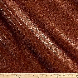 Plastex Fabrics 0488611 Faux Leather Textured Western Bourbon Yard