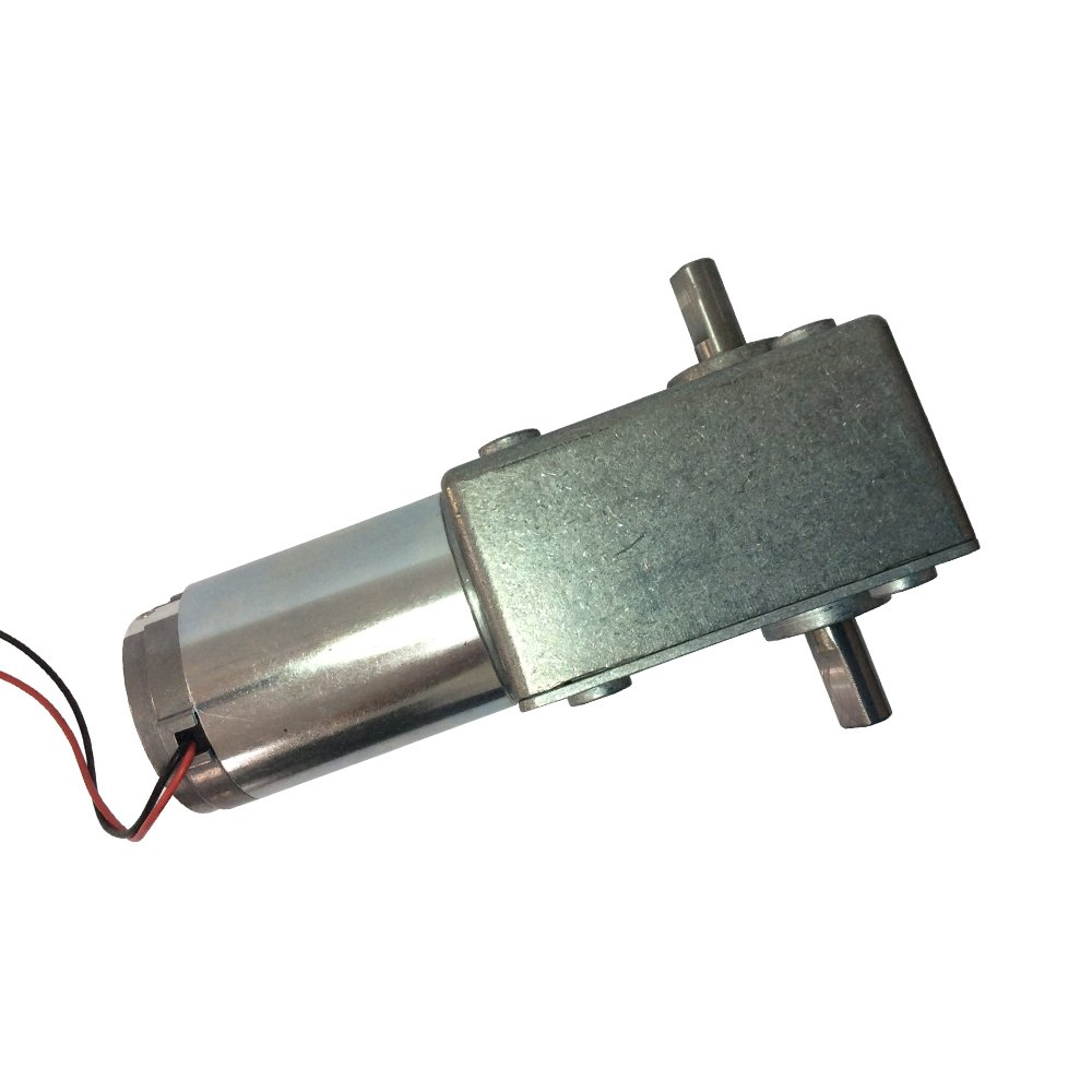 BEMONOC DC 12Volt Electric Motor 22RPM High Torque Double Right Angle Output Shaft 10mm PMDC Electric Worm Gear Motor