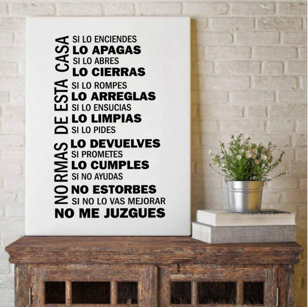 zxkx Reglas de la casa española Cita Arte de la Pared ...