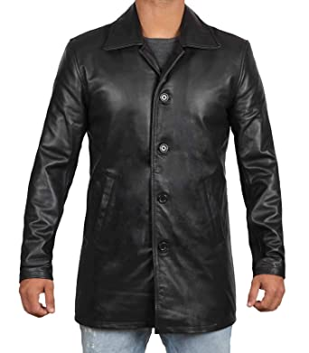 684479497037 Brown Leather Jacket Men - Black Genuine Leather Coats for Men at Amazon  Men's Clothing store: Leather Outerwear Jackets