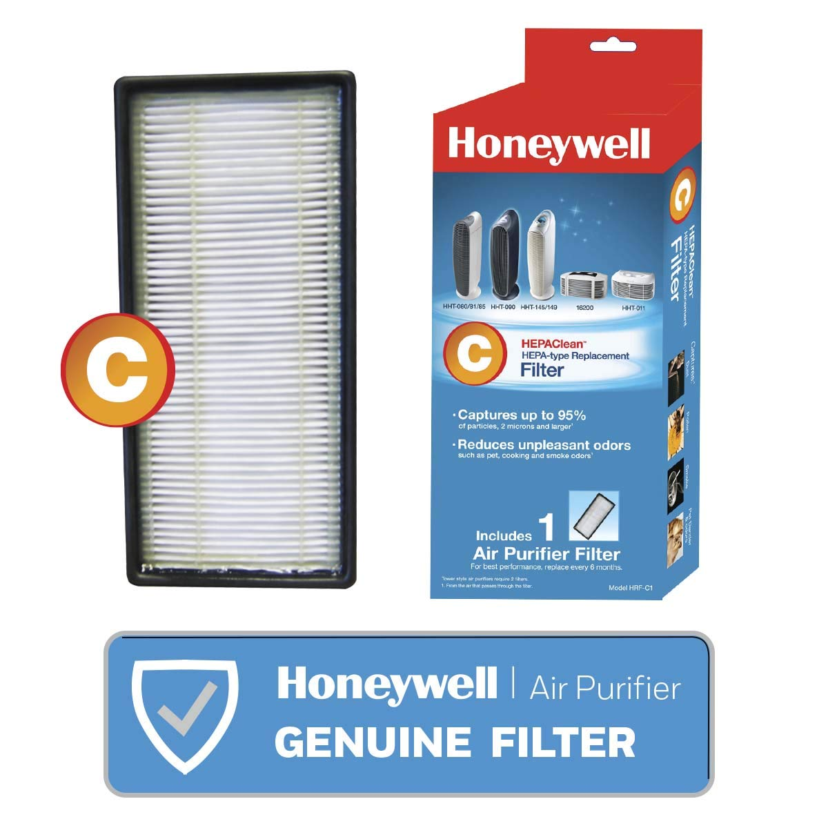 Honeywell HEPAClean Air Purifier Replacement Filter HRF-C1/Filter (C)