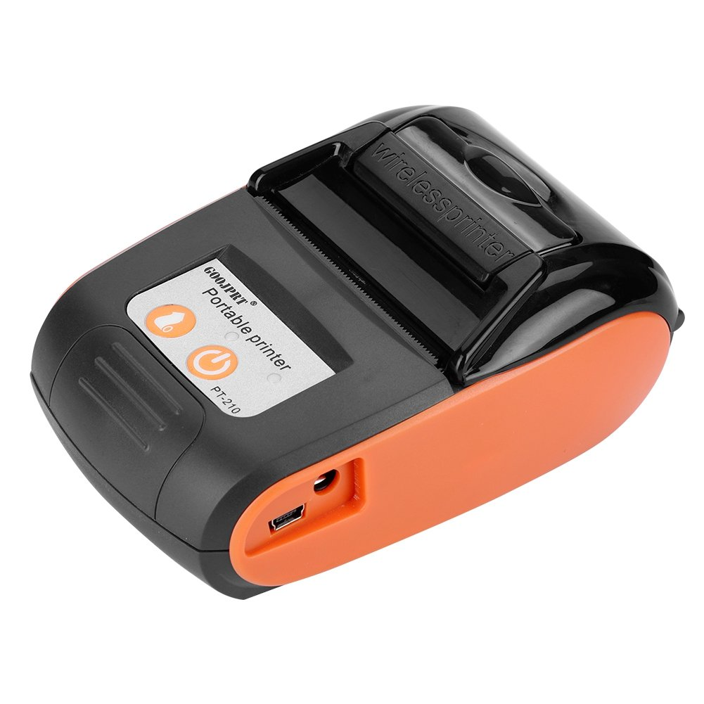 Richer-R Impresora de Tickets Térmica,Impresora Térmicos Directos, Impresora Inalámbrico Portátil de Recibos y Billetes (50-89.9mm / s) para ...