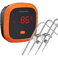 Inkbird IBT-4XC Waterdichte Bluetooth BBQ Thermometer met 4 Probes, Oplaadbare Vleesthermometer met Magneet en Alarm…