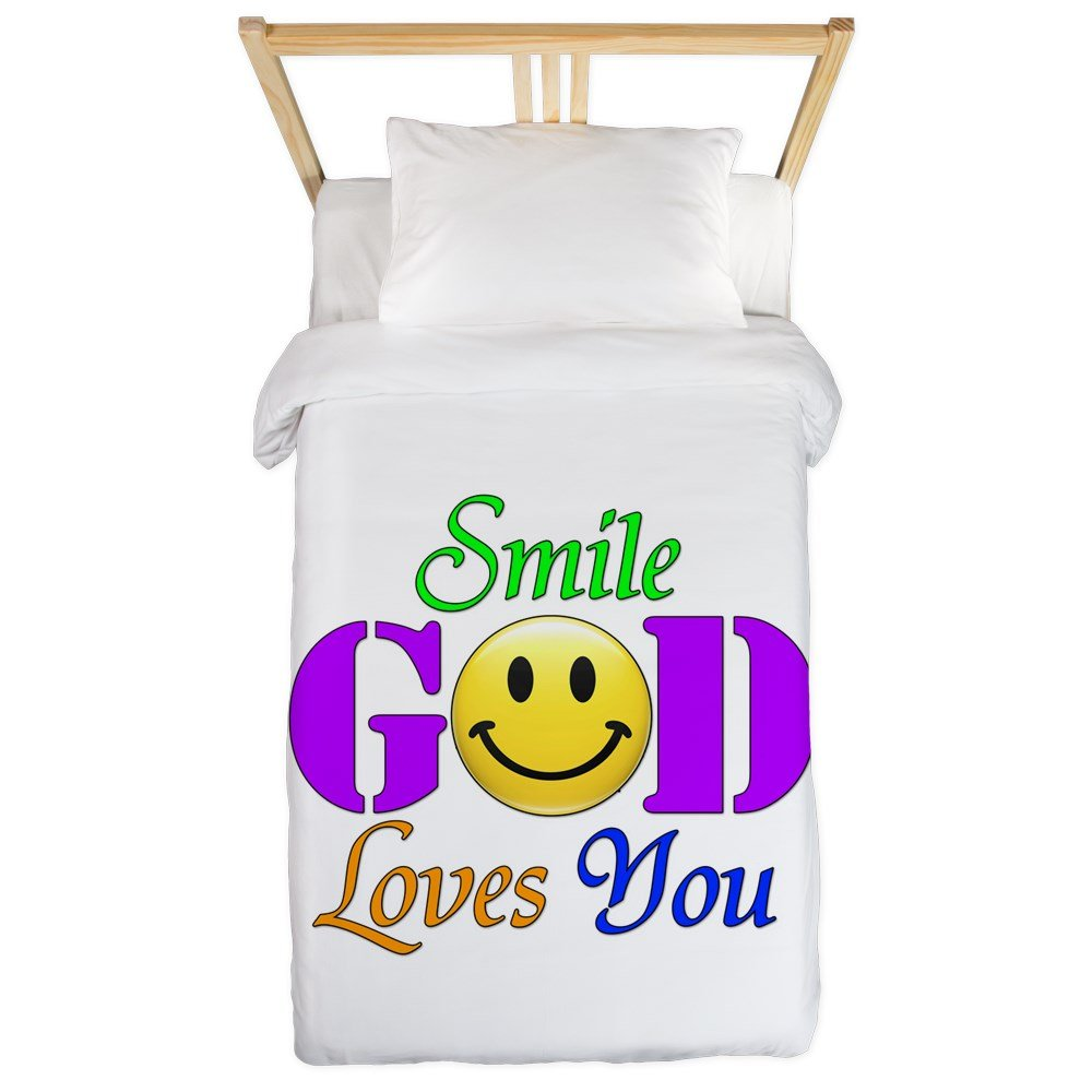 Twin Duvet Cover Smile God Loves You by Royal Lion