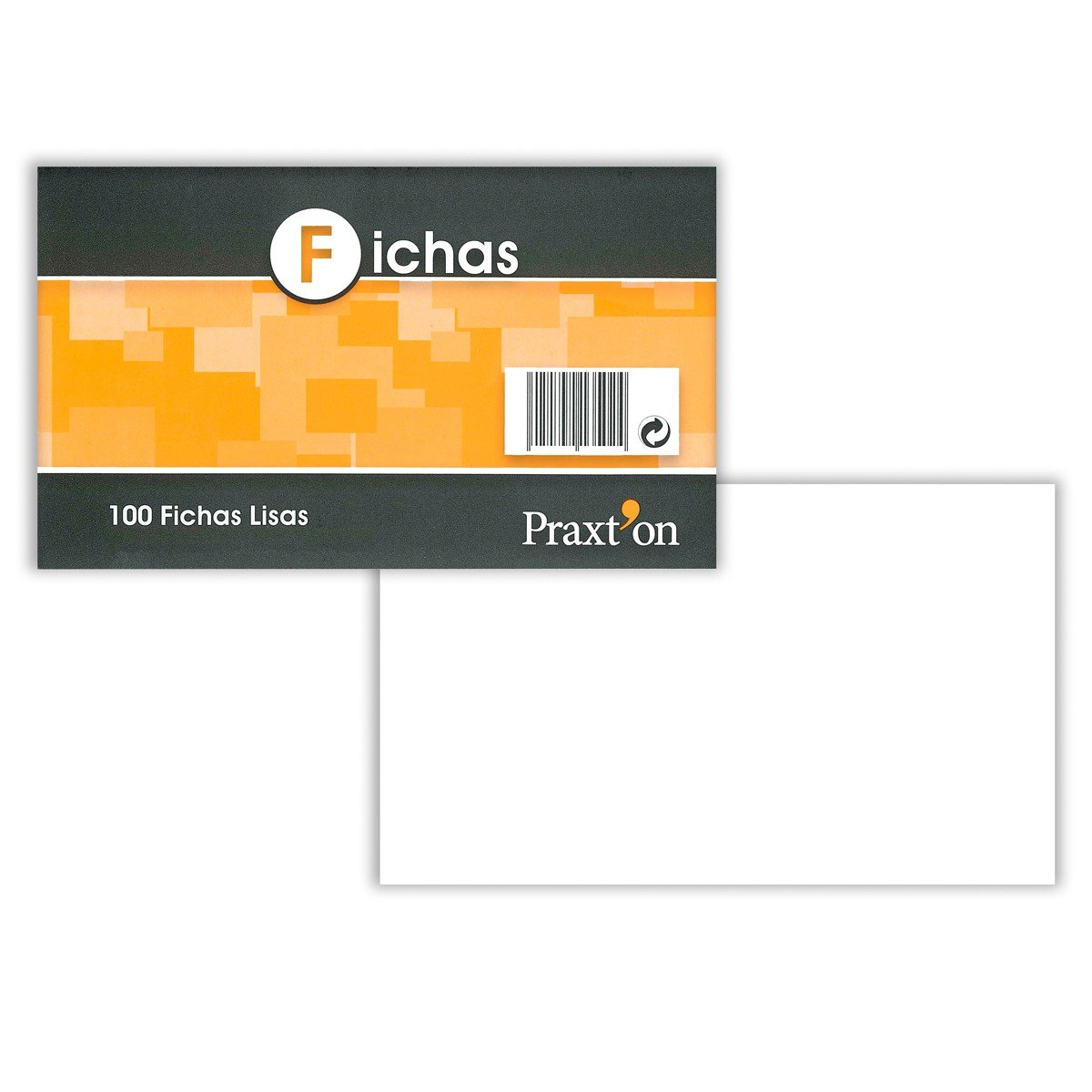 Pack x100 Fichas Cartulina PRAXTON Lisas 100 x 150 mm