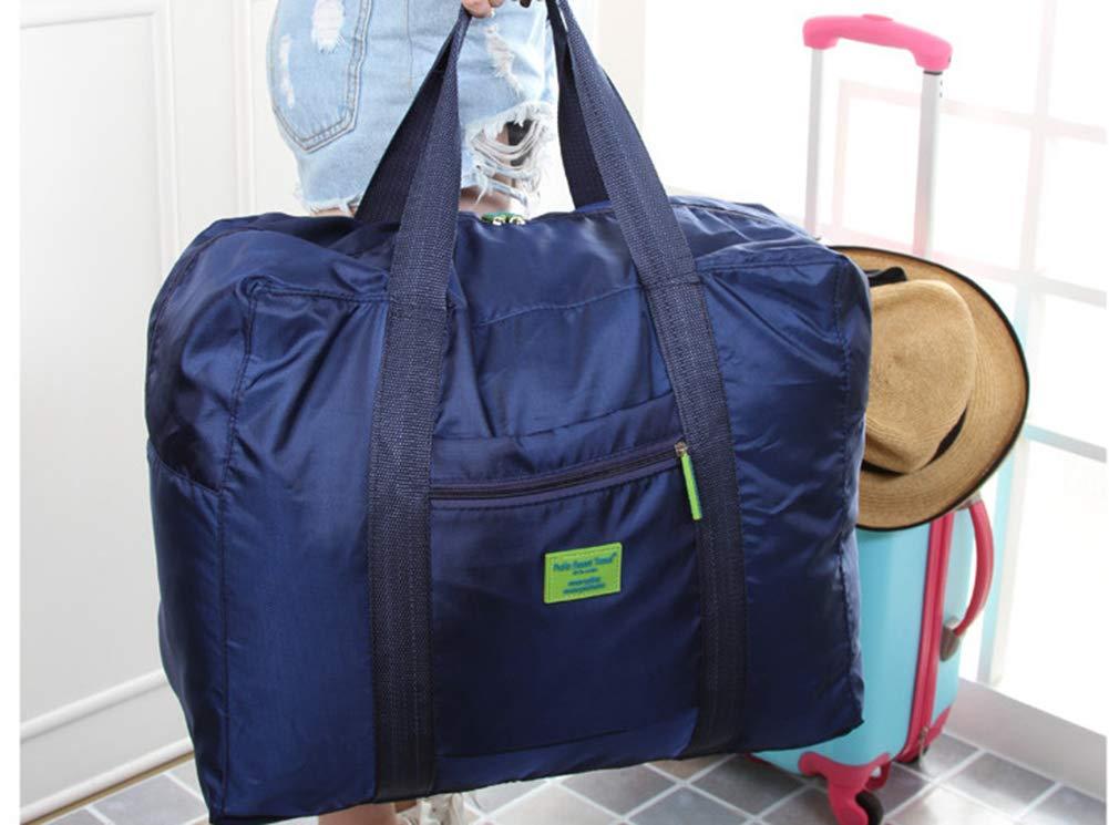Foldable Travel Tote Duffel Bag Lightweight Travel Bag Weekend Waterproof Large Capacity Storage Luggage Organizer (Navy Blue) by Guyay (Image #3)