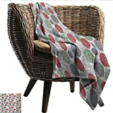 """Davishouse Retro Blanket Sheets Knitting Balls Crochet Hand Made Theme Domestic Hobby Vintage Theme Cozy for Couch Sofa Bed Beach Travel 50"""" Wx60 L"""