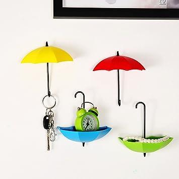 Paraguas gancho de pared nueva llegada 6 colores pasador de pelo, diseño de llave gancho
