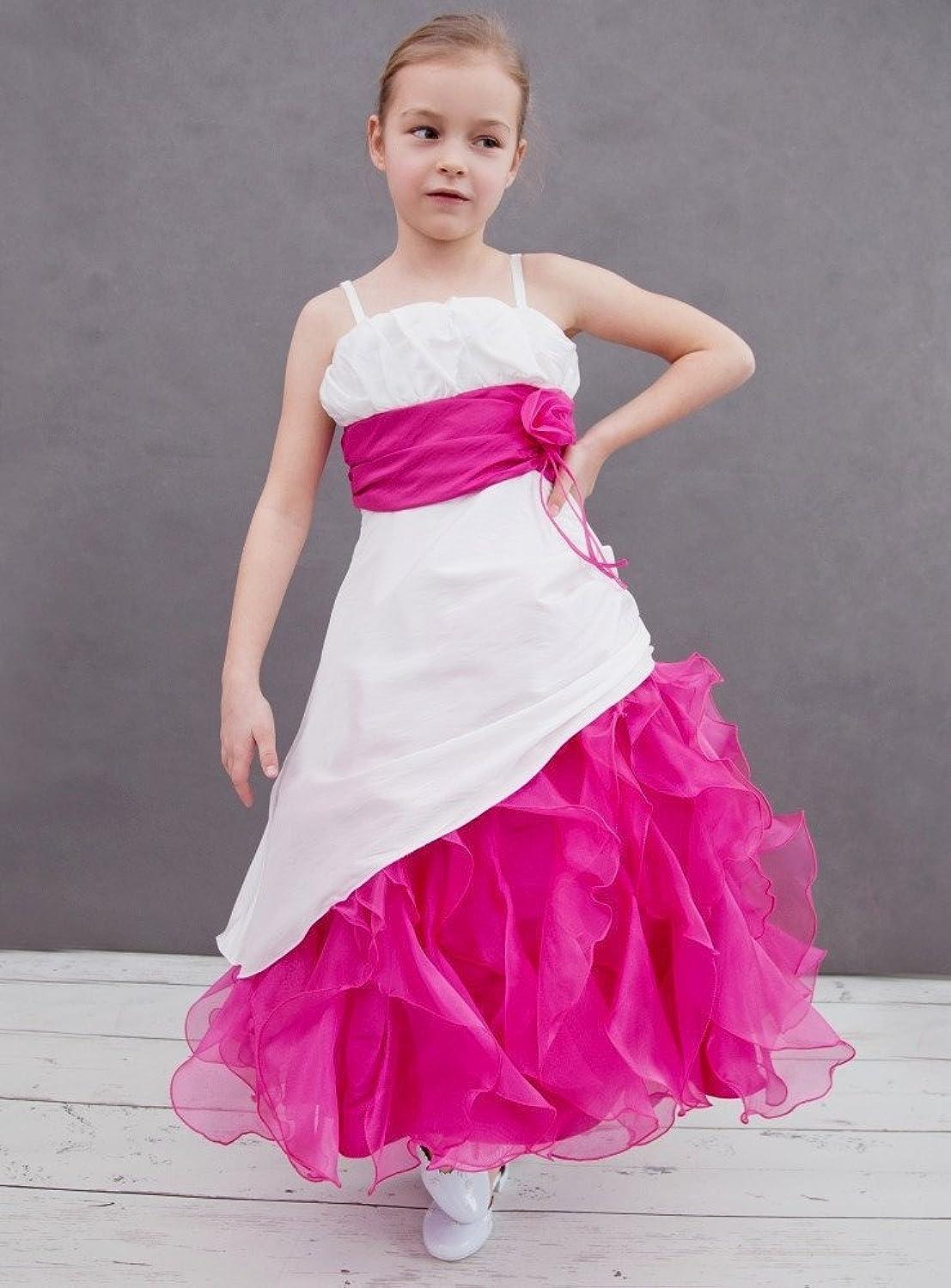 Robe de mariage fushia et blanc for Robes de mariage designer amazon