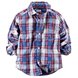 Carter's Little Boys' Plaid Button Down Shirt (Toddler) - Red/Blue - 7