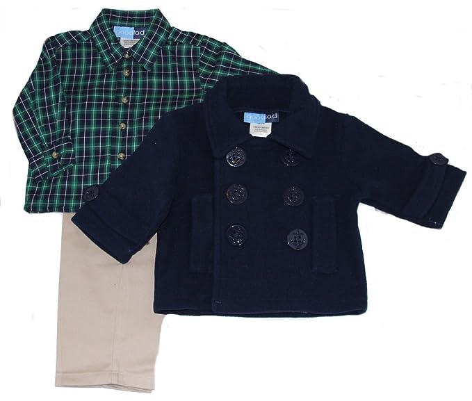 353f75270807 Amazon.com  Baby-boys Navy Fleece Peacoat