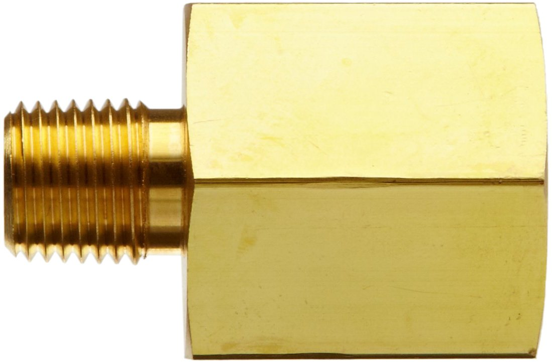 3//8 NPT Female X 1//4 NPT Male Parker Brass Pipe Fitting Reducing Adapter