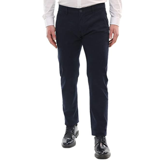 3800f38e6b Pantaloni Uomo Elegante Estivi Leggeri Chino Cotone Leggero Slim Fit ...