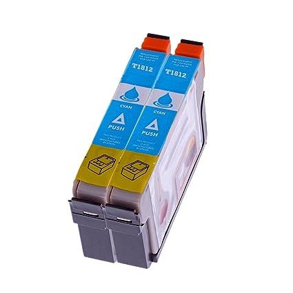 Premium 2 unidades cartucho de tinta para Epson T 1812 T1812 con ...