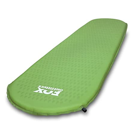 Fox Outfitters Ultralight Series Self Inflating Camp Pad – Perfect Foam Sleeping Pads for Camping, Backpacking, Hiking, Hammocks, Tents
