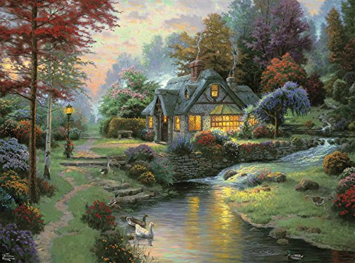 Ceaco Thomas Kinkade - Stillwater Cottage, 1000Piece Puzzle
