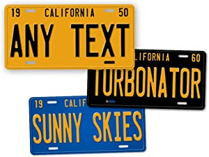 Antique Retro California State Auto Tag Official 1950s 1960s 1970s Vintage Replica CA License Plate Any Text! Personalized Sign