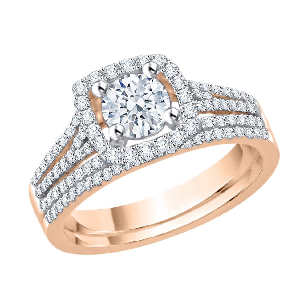 G-H,I2-I3 Diamond Wedding Band in 10K White Gold 1//6 cttw, Size-3.5