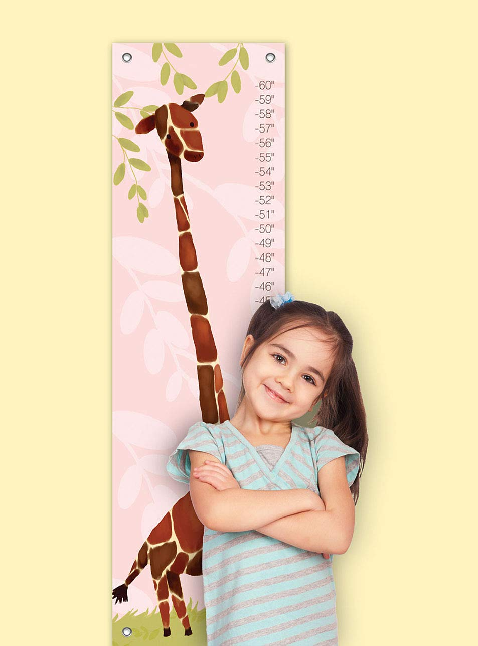 Oopsy daisy Gillespie Giraffe Growth Chart by Meghann OHara 12 by 42 Inches Fine Art for Kids PE2966