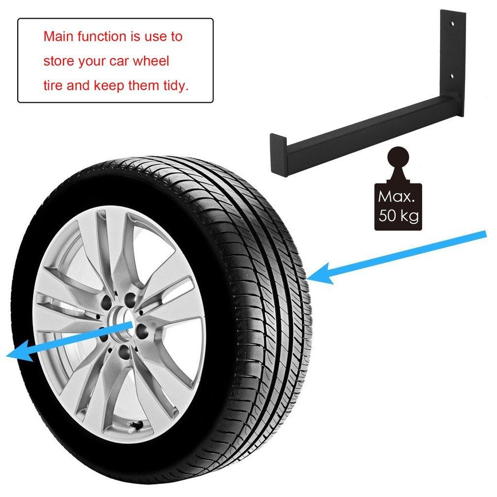 belastbar bis 50kg Felgenhalter Wandmontage BigButterflyde 8 Stk Reifenhalter Set Reifenwandhalter Reifen Felgen Halter Wandhalterung